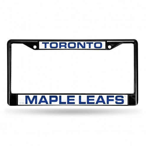 Toronto Maple Leafs Laser Black License Plate Frame