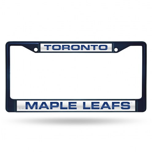 Toronto Maple Leafs Laser Colored Chrome License Plate Frame