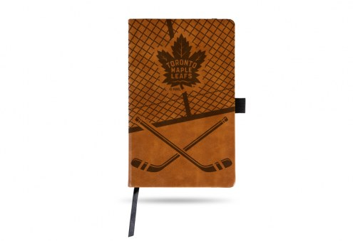 Toronto Maple Leafs Laser Engraved Brown Notepad