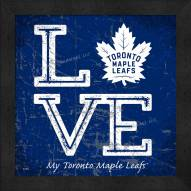 Toronto Maple Leafs Love My Team Color Wall Decor