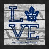 Toronto Maple Leafs Love My Team Square Wall Decor