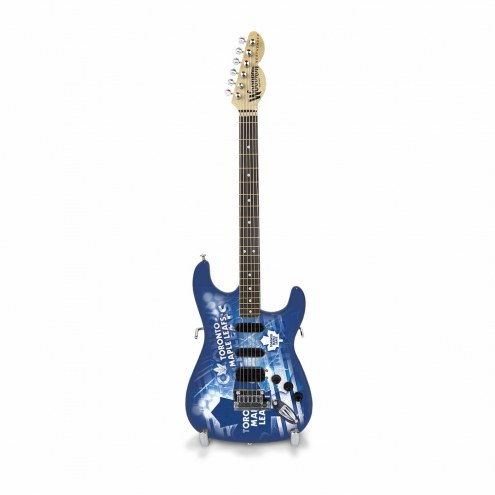 Toronto Maple Leafs Mini Collectible Guitar