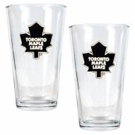 Toronto Maple Leafs NHL Pint Glass - Set of 2