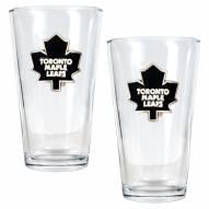 Toronto Maple Leafs NHL Pint Glass - Set of 2