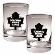 Toronto Maple Leafs NHL Rocks Glass - Set of 2