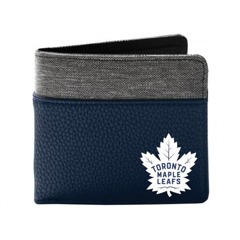 Toronto Maple Leafs Pebble Bi-Fold Wallet