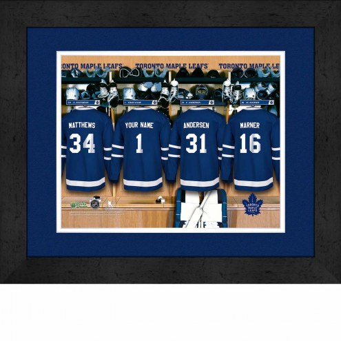 Toronto Maple Leafs Personalized Locker Room 13 x 16 Framed Photograph