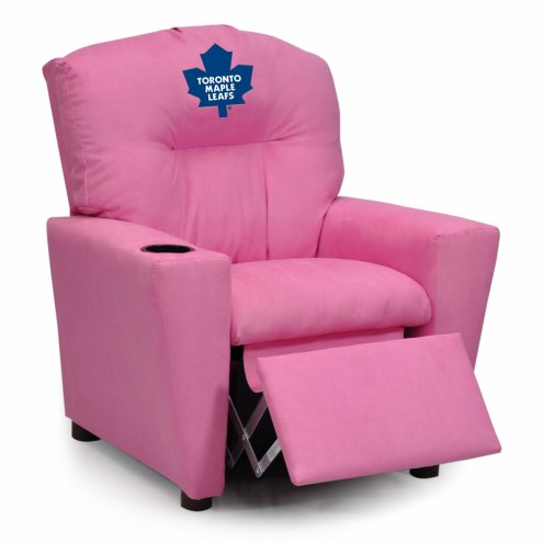 Toronto Maple Leafs Pink Kid's Recliner