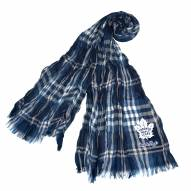 Toronto Maple Leafs Plaid Crinkle Scarf