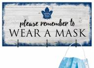 Toronto Maple Leafs Please Wear Your Mask Sign