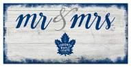 Toronto Maple Leafs Script Mr. & Mrs. Sign