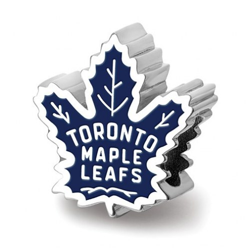 Toronto Maple Leafs Sterling Silver Enameled Bead