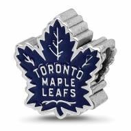 Toronto Maple Leafs Sterling Silver Enameled Bead
