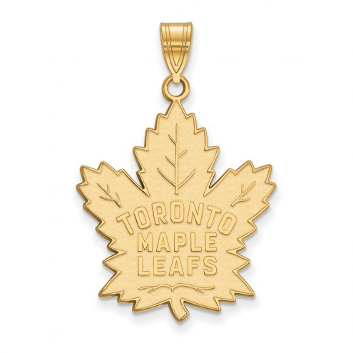 Toronto Maple Leafs Sterling Silver Gold Plated Extra Large Pendant