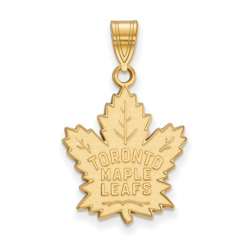 Toronto Maple Leafs Sterling Silver Gold Plated Large Pendant