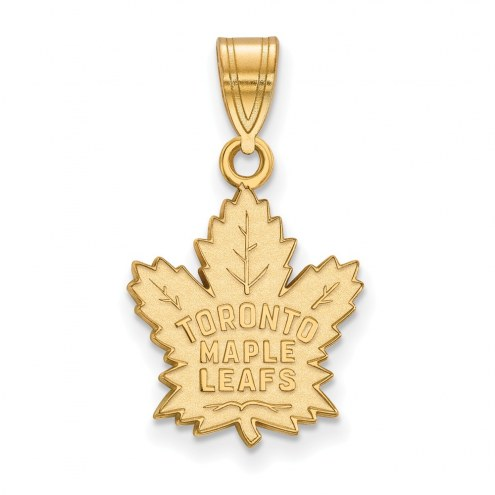 Toronto Maple Leafs Sterling Silver Gold Plated Medium Pendant