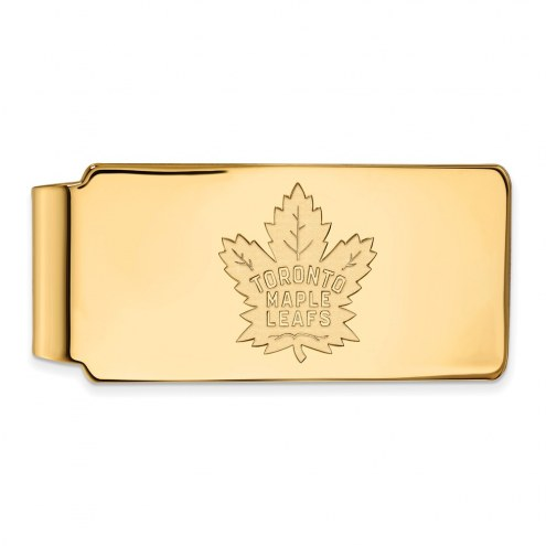 Toronto Maple Leafs Sterling Silver Gold Plated Money Clip