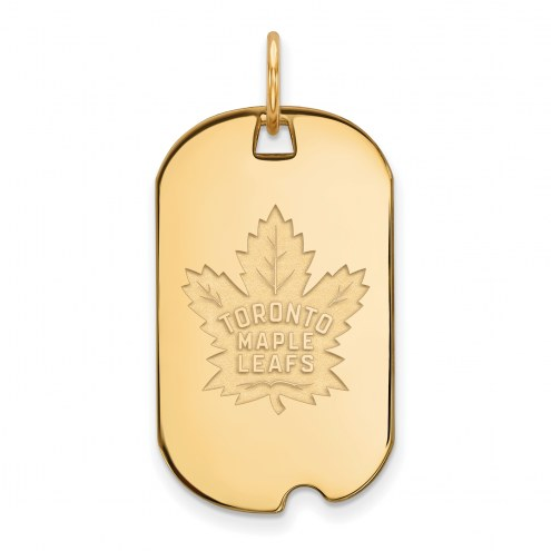 Toronto Maple Leafs Sterling Silver Gold Plated Small Dog Tag