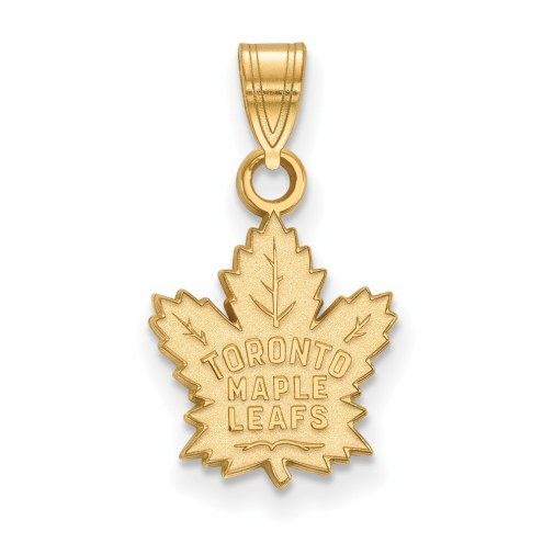 Toronto Maple Leafs Sterling Silver Gold Plated Small Pendant