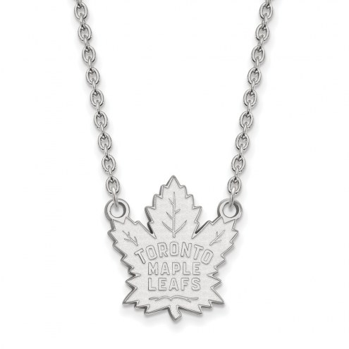 Toronto Maple Leafs Sterling Silver Large Pendant Necklace