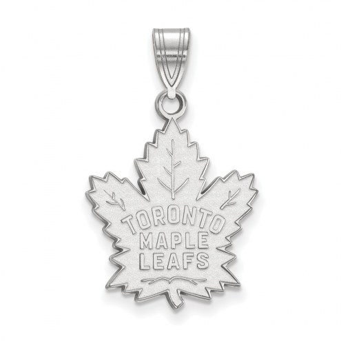 Toronto Maple Leafs Sterling Silver Large Pendant