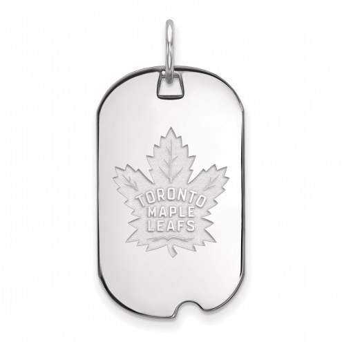 Toronto Maple Leafs Sterling Silver Small Dog Tag