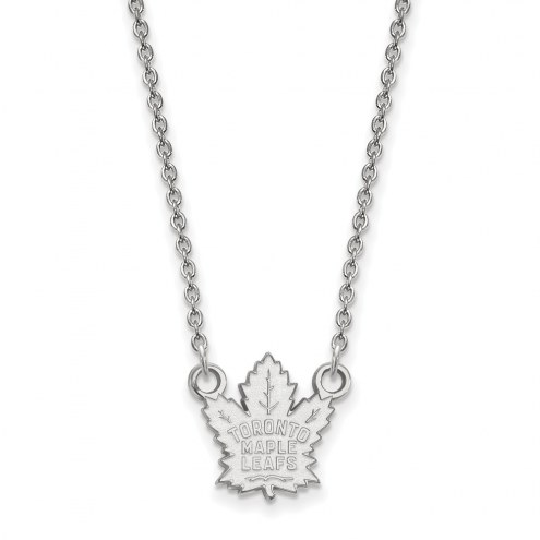 Toronto Maple Leafs Sterling Silver Small Pendant Necklace