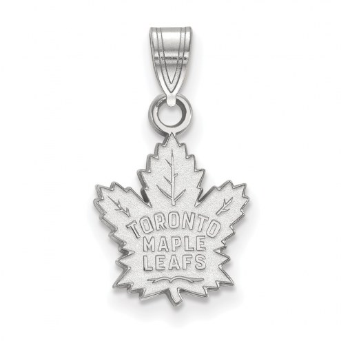 Toronto Maple Leafs Sterling Silver Small Pendant