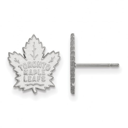 Toronto Maple Leafs Sterling Silver Small Post Earrings