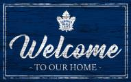 Toronto Maple Leafs Team Color Welcome Sign