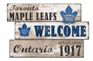 Toronto Maple Leafs Welcome 3 Plank Sign