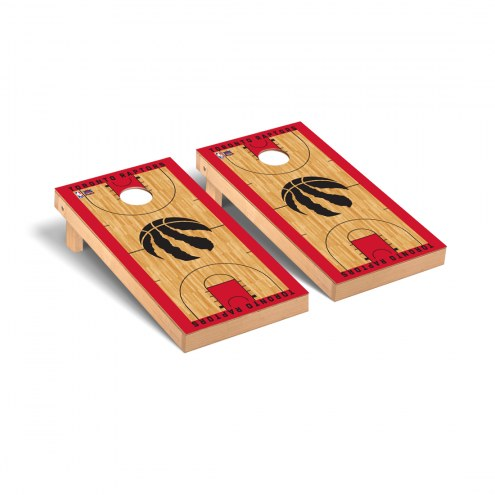 Toronto Raptors Basketball Court Cornhole Game Set