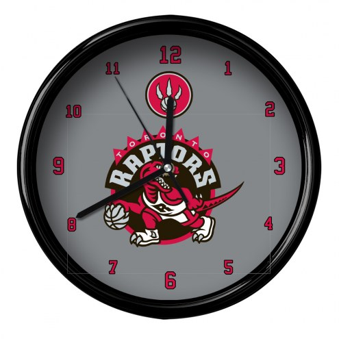 Toronto Raptors Black Rim Clock