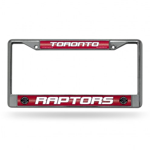 Toronto Raptors Bling Chrome License Plate Frame
