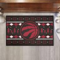 Toronto Raptors Christmas Sweater Starter Rug