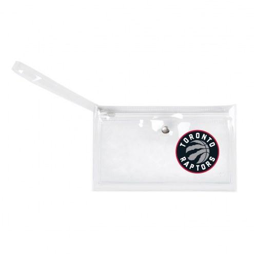 Toronto Raptors Clear Ticket Wristlet