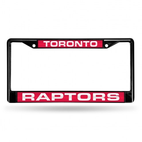 Toronto Raptors Laser Black License Plate Frame