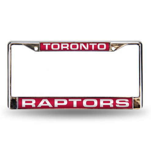 Toronto Raptors Laser Cut Chrome License Plate Frame