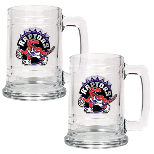 Toronto Raptors NBA 2-Piece Glass Tankard Beer Mug Set