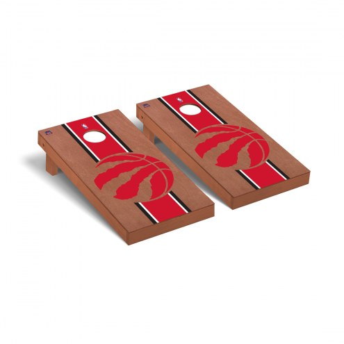 Toronto Raptors Rosewood Stained Cornhole Game Set