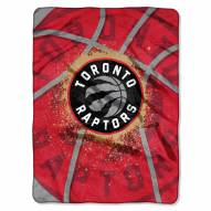 Toronto Raptors Shadow Play Plush Raschel Blanket