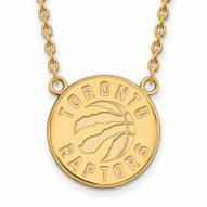 Toronto Raptors Sterling Silver Gold Plated Large Pendant Necklace