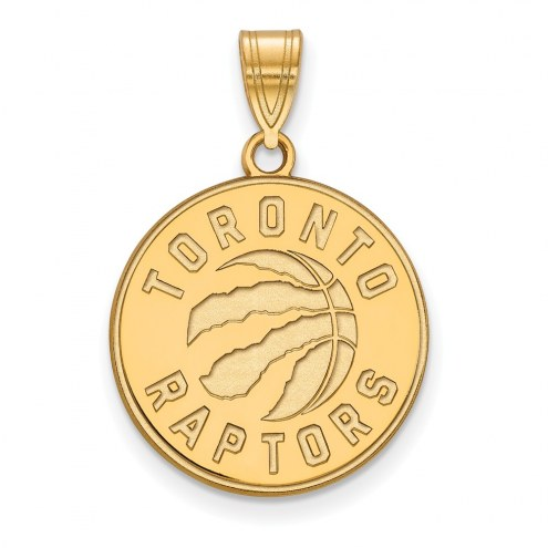 Toronto Raptors Sterling Silver Gold Plated Large Pendant