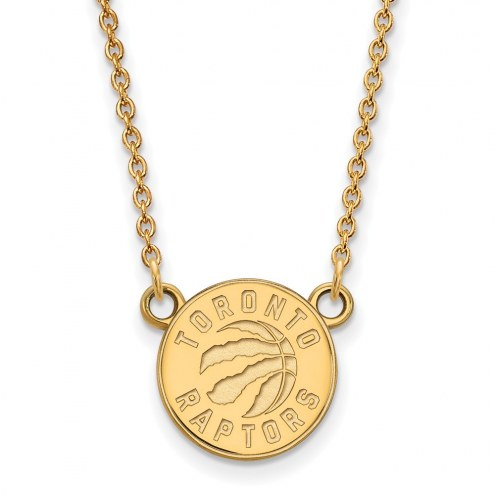 Toronto Raptors Sterling Silver Gold Plated Small Pendant Necklace