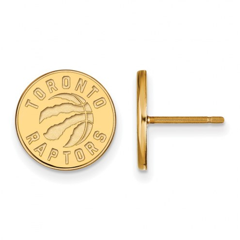 Toronto Raptors Sterling Silver Gold Plated Small Post Earrings