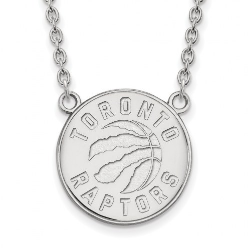 Toronto Raptors Sterling Silver Large Pendant Necklace