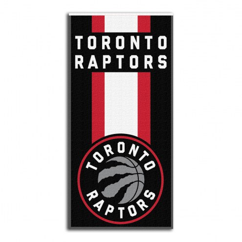 Toronto Raptors Zone Read Beach Towel