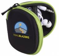 Tough Tech Custom Pouch with Earbuds and Lens Wipe