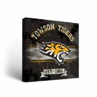Towson Tigers Banner Canvas Wall Art