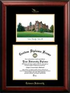 Towson Tigers Gold Embossed Diploma Frame with Campus Images Lithograph
